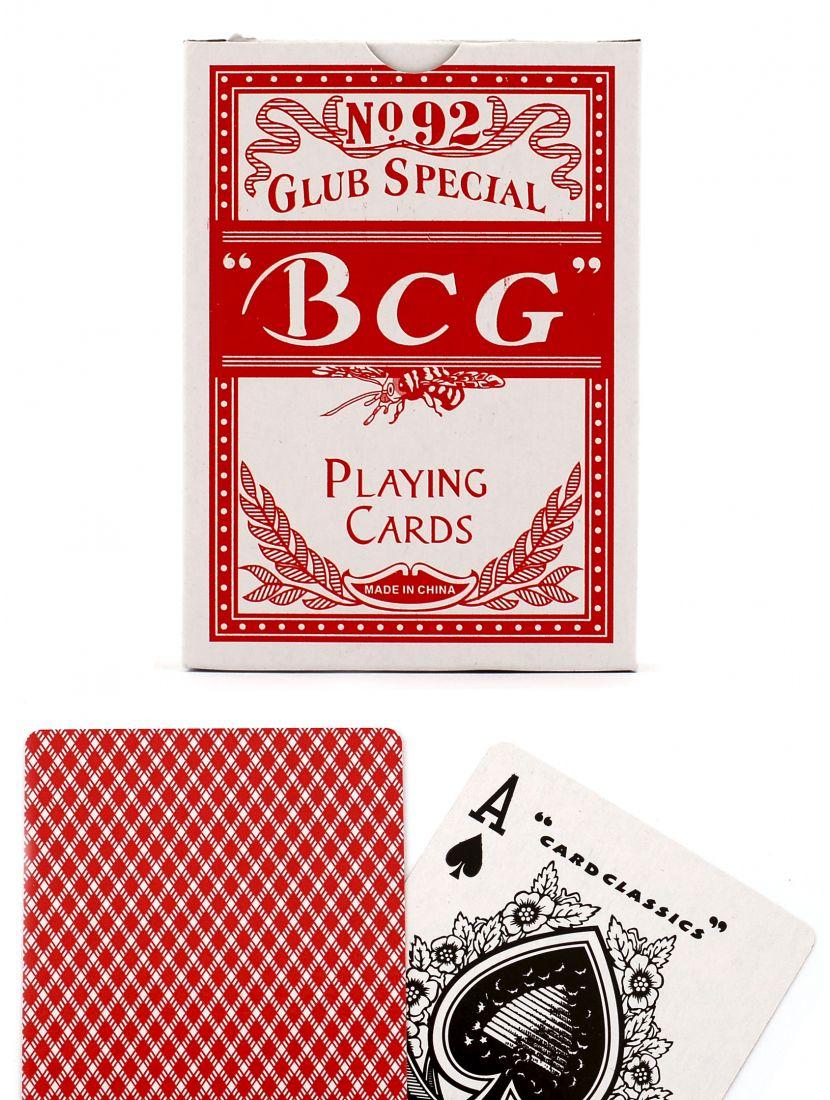 Карты «BCG» красные вскрытая упаковка