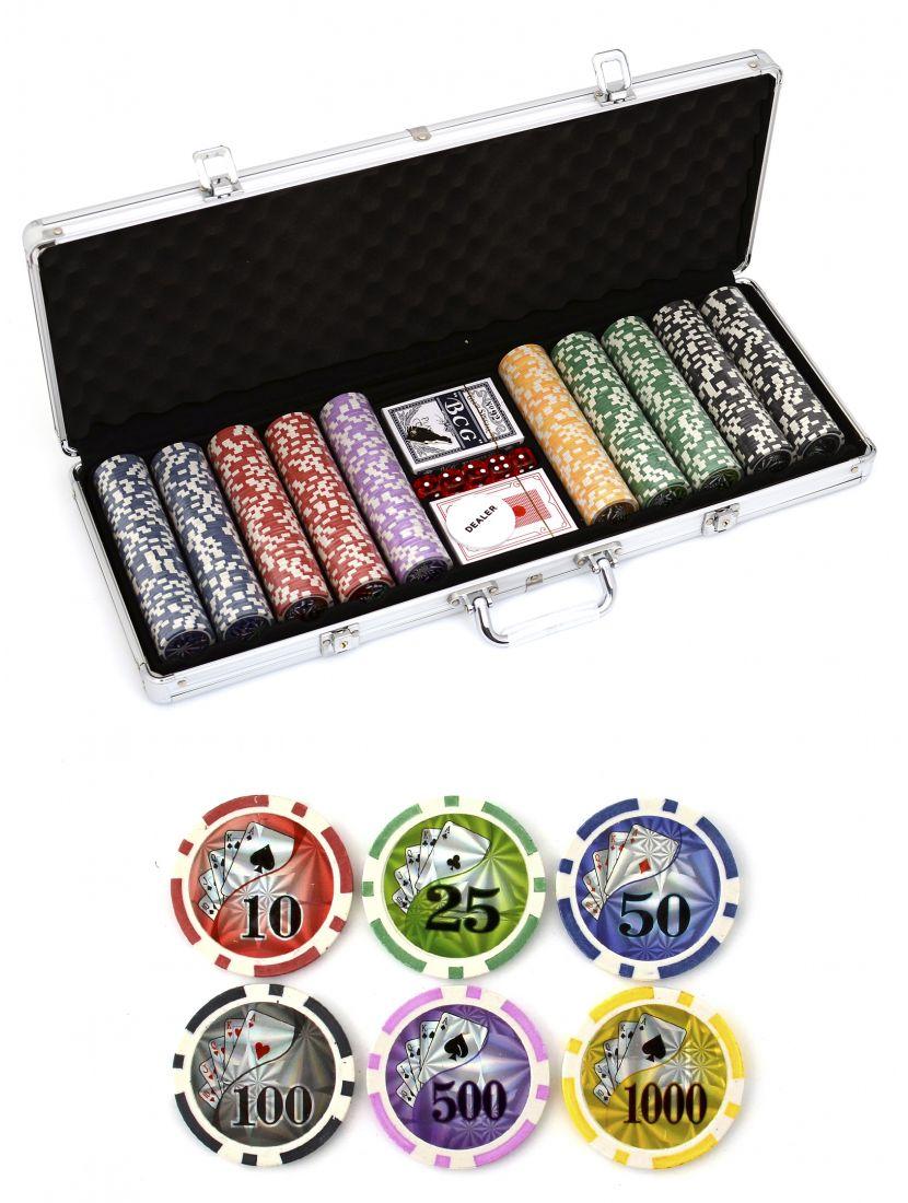 Покерный набор «NUTS» 500 фишек
