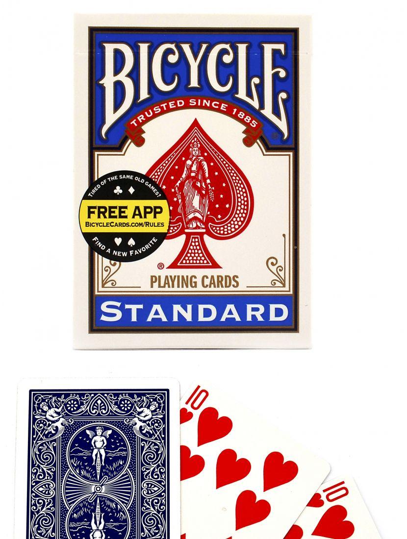 Карты для фокусов «Bicycle Standard Magic props» синие