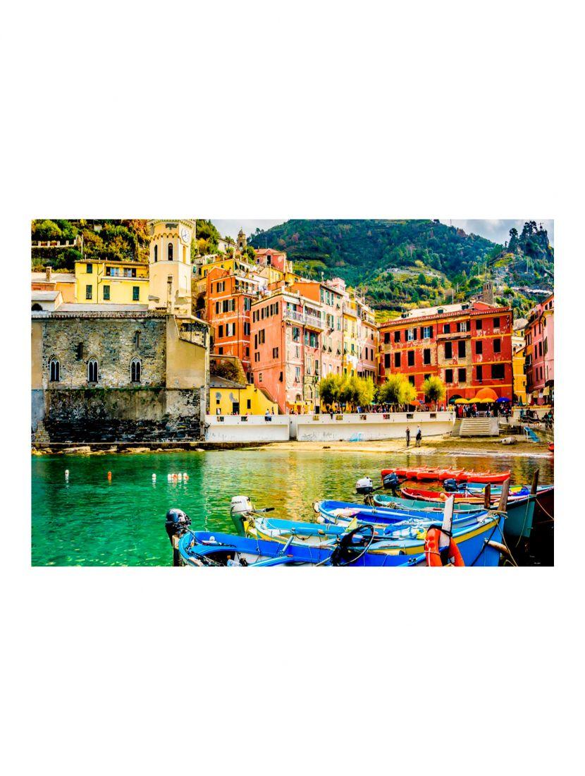 Деревянный пазл «Италия горный городок с пристанью»