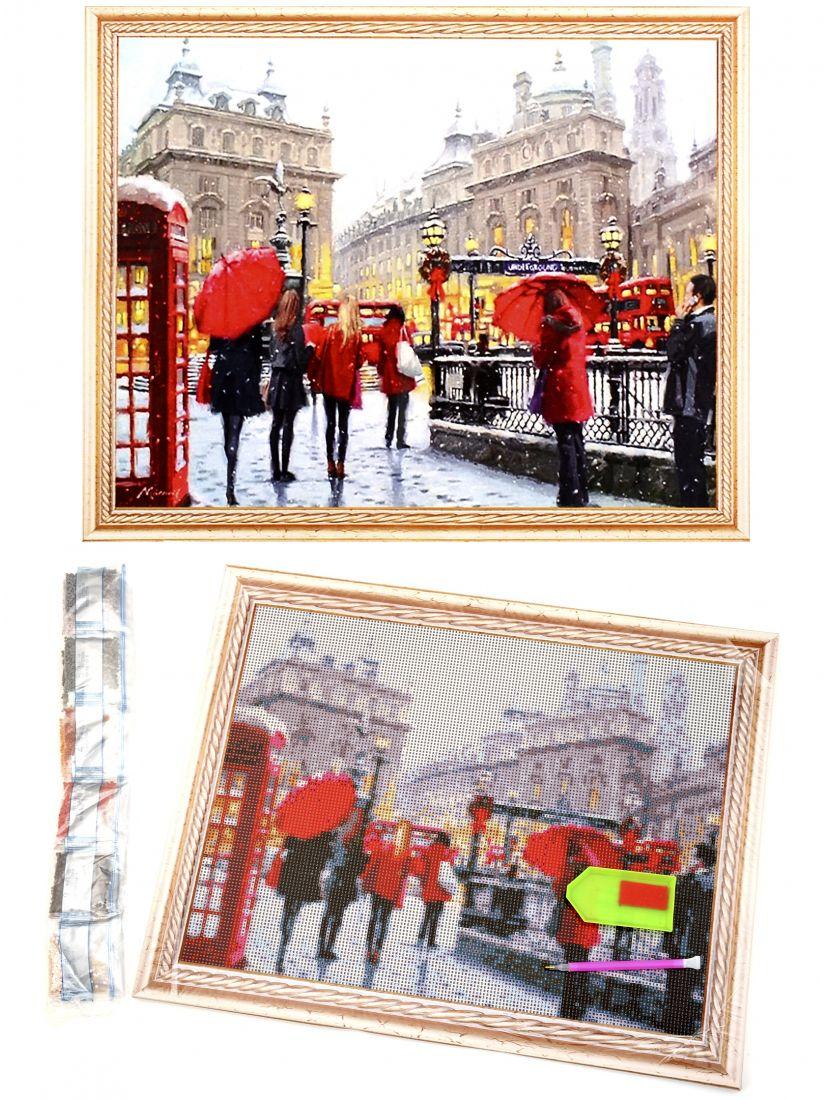 "Алмазная мозаика на подрамнике ""Зима в Лондоне"""
