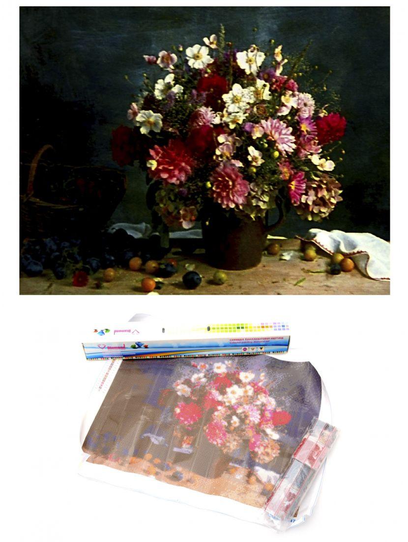 """Алмазная мозаика """"Цветы и виноград"""""""