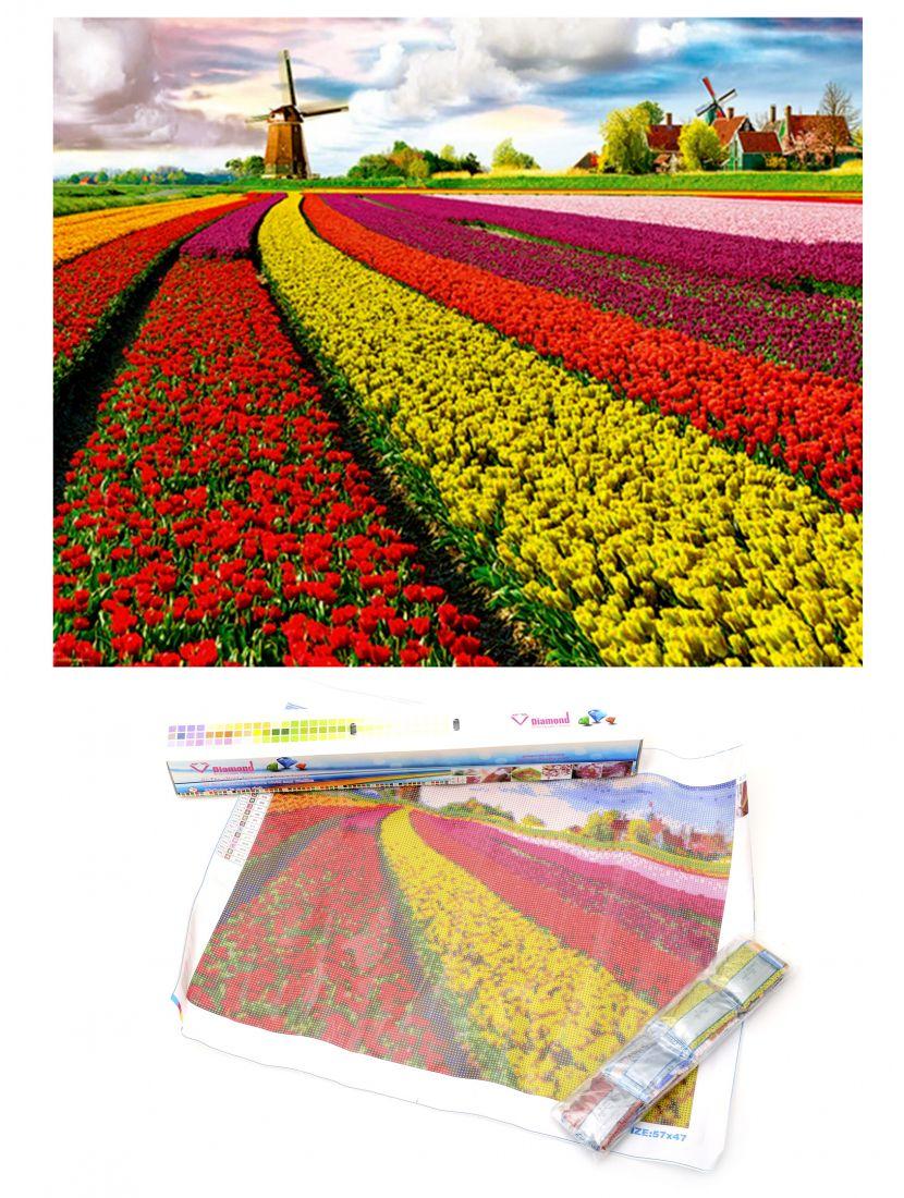 """Алмазная мозаика """"Весна в Нидерландах"""""""