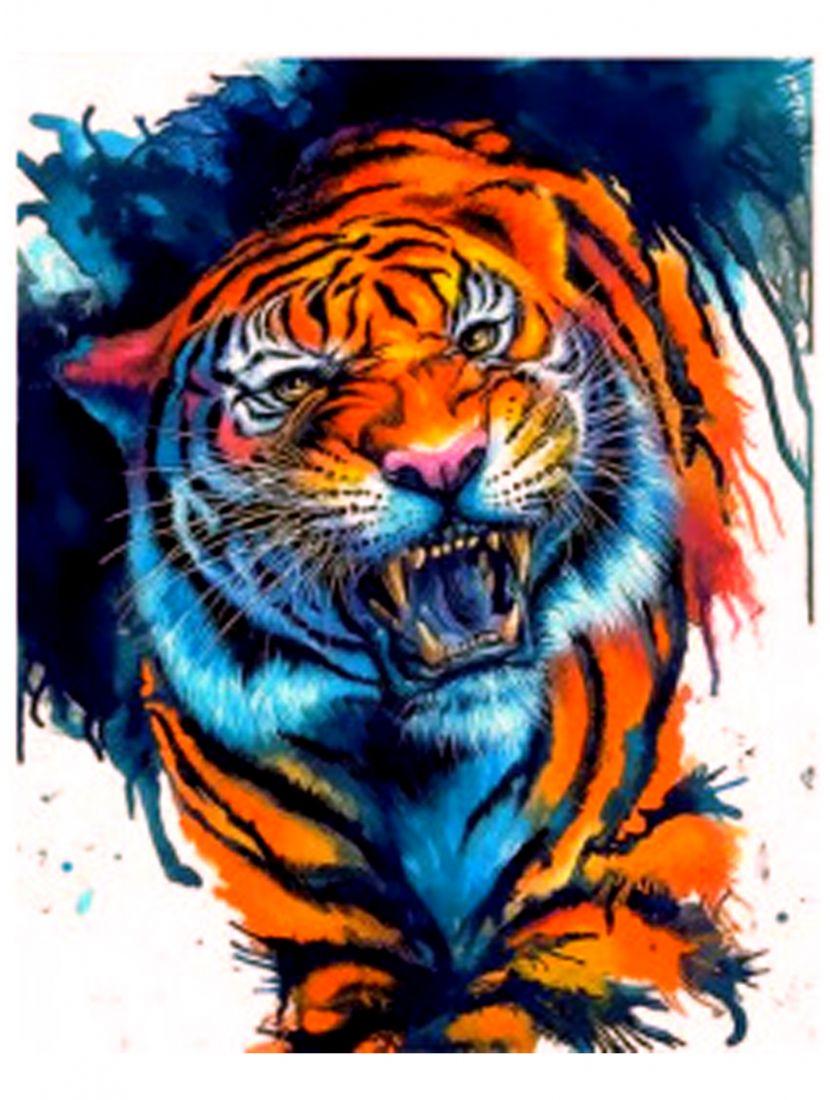 """Алмазная мозаика """"Сердитый тигр"""""""