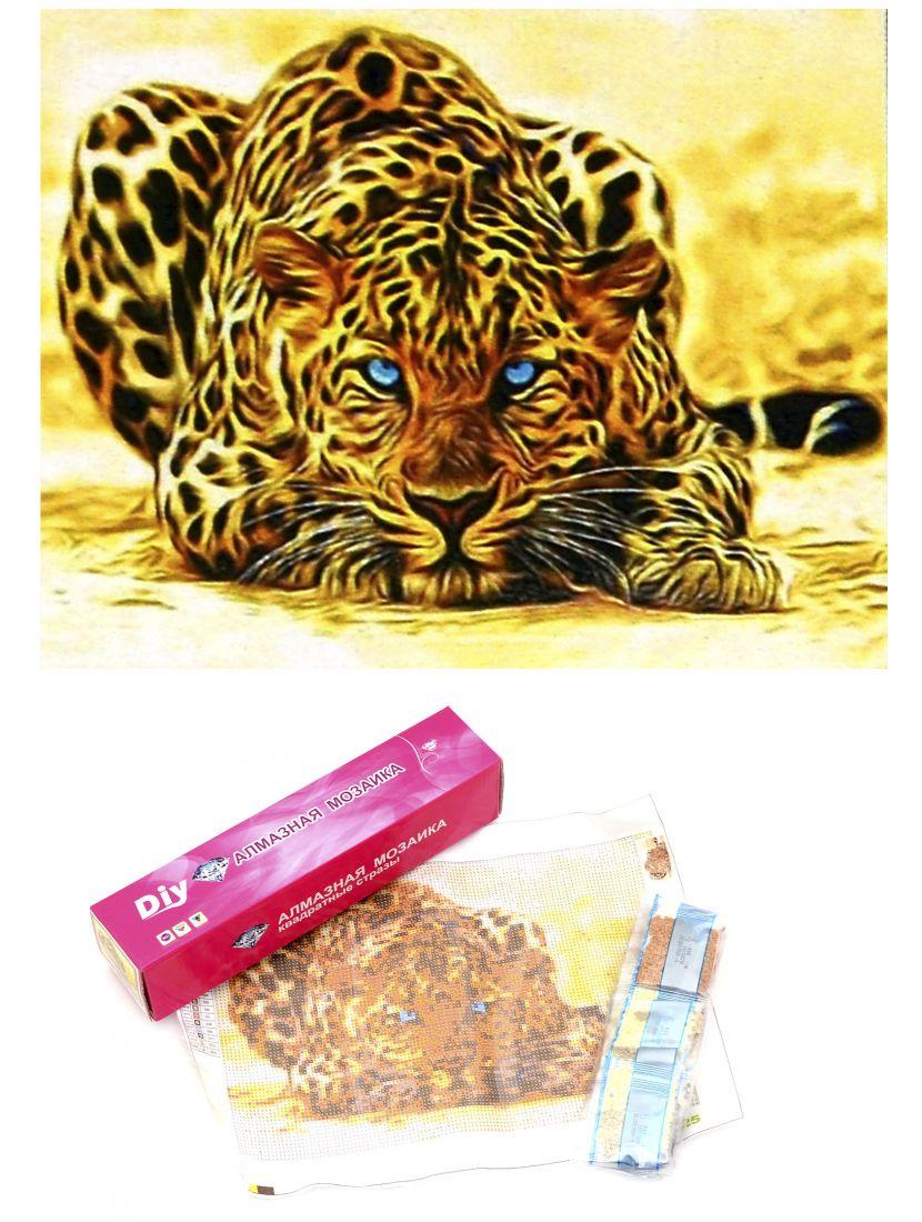 Алмазная мозаика «Ягуар готовящийся к прыжку»