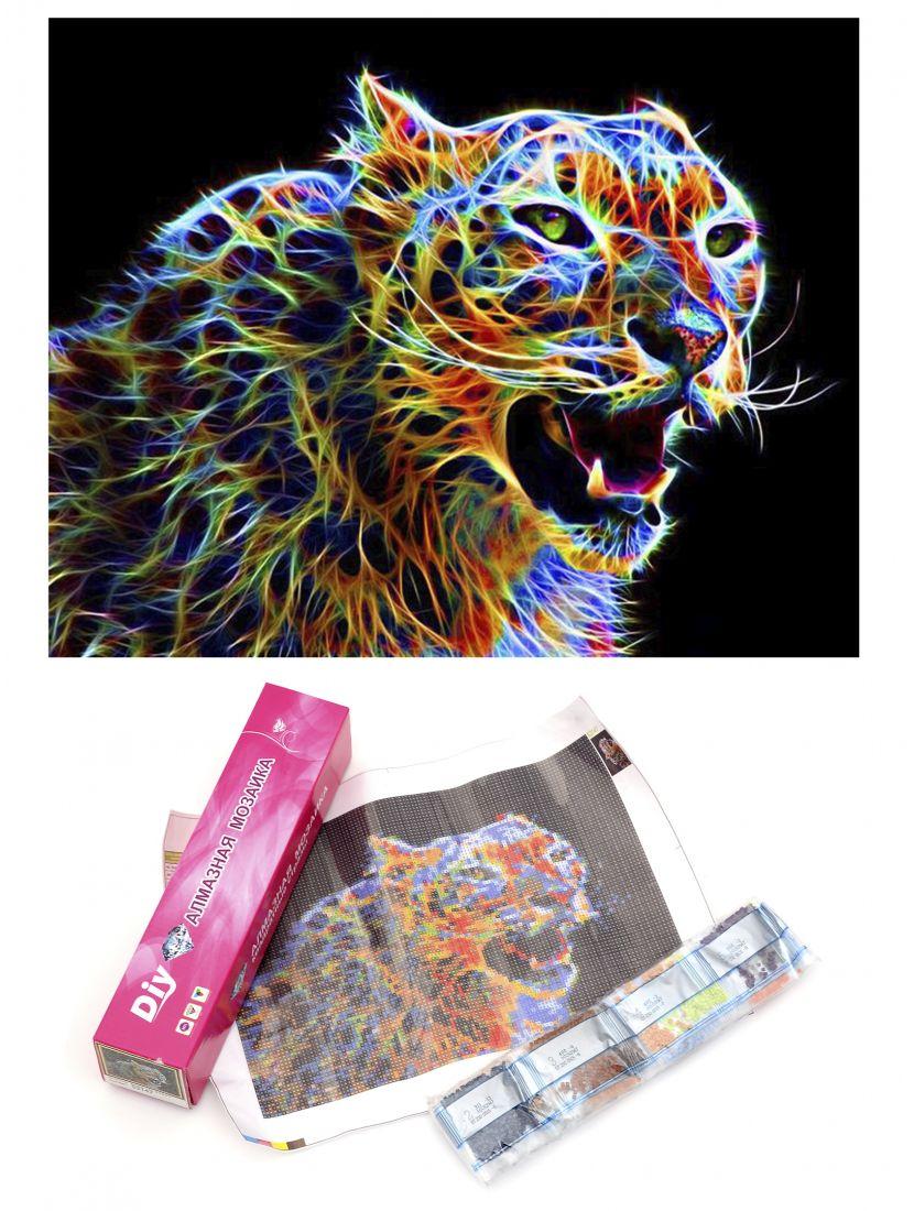 "Алмазная мозаика ""Плазменный тигр"""