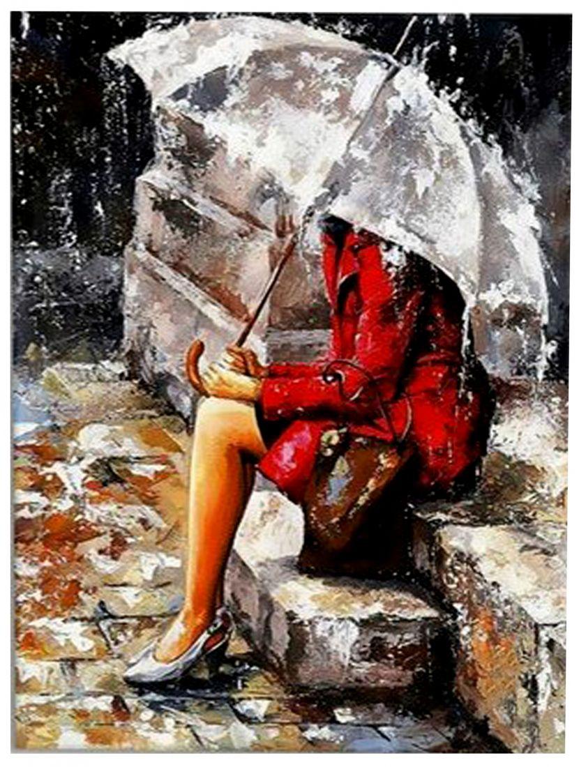 Алмазная мозаика «Под дождём»