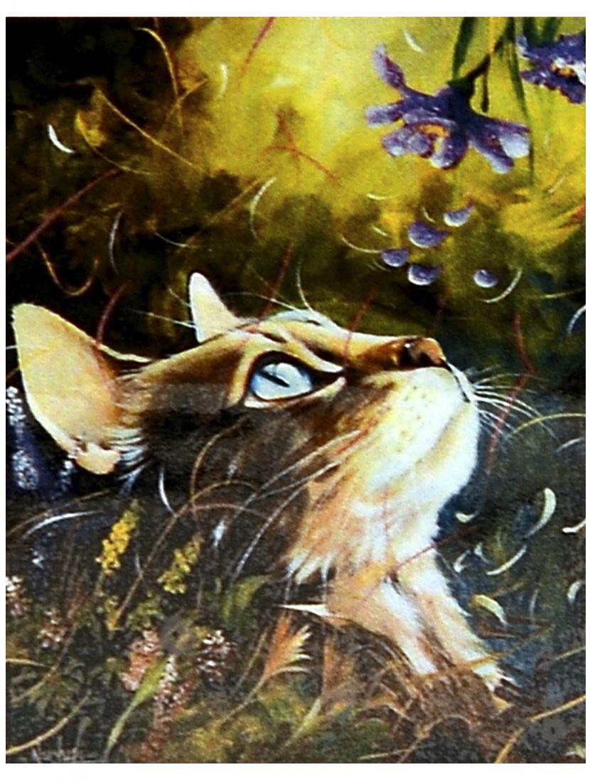 Алмазная мозаика «Кошка в траве»