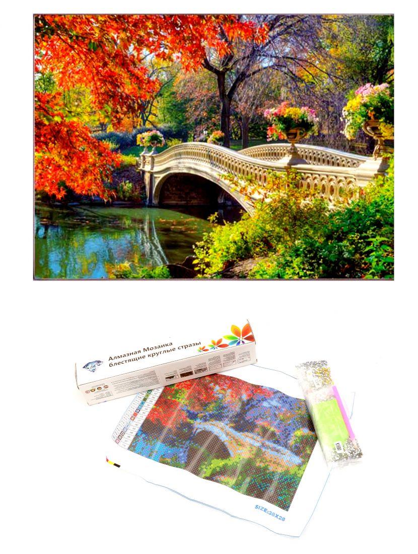 """Алмазная мозаика """"Осенний мост"""""""