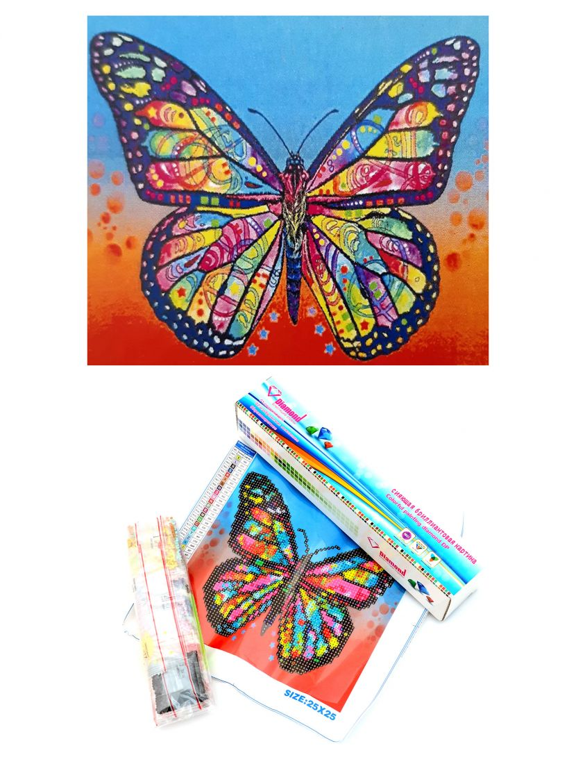"Алмазная мозаика ""Яркая бабочка"""