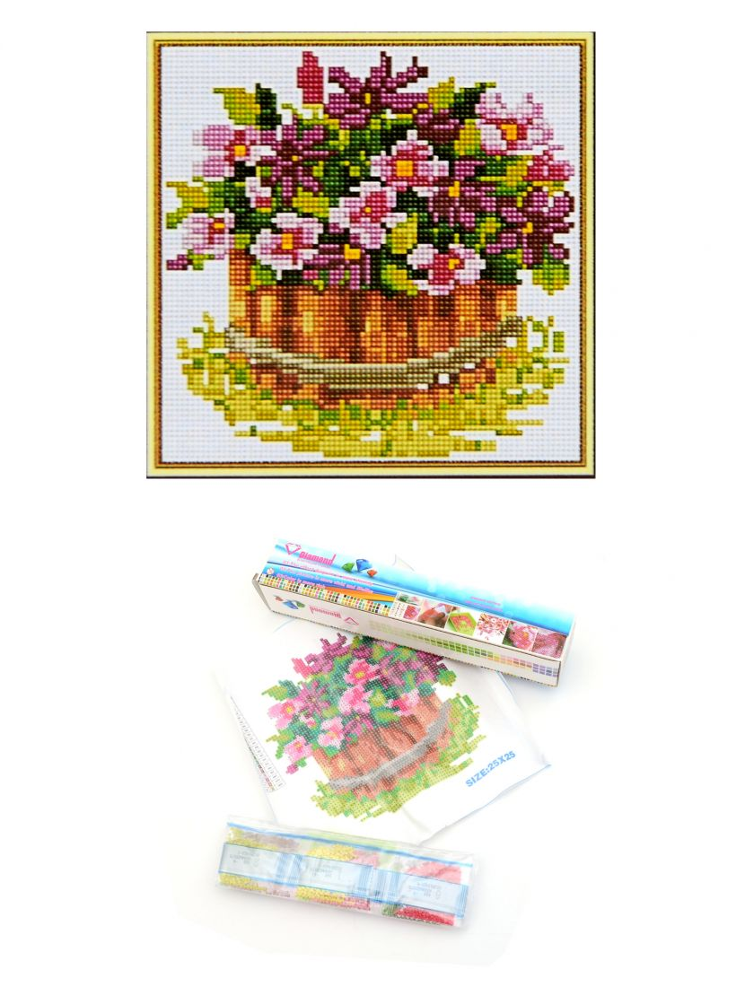 "Алмазная мозаика ""Корзина с цветами"""