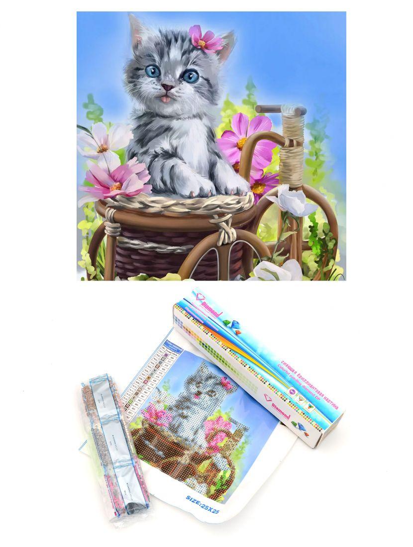 """Алмазная мозаика """"Удивлённый котёнок"""""""