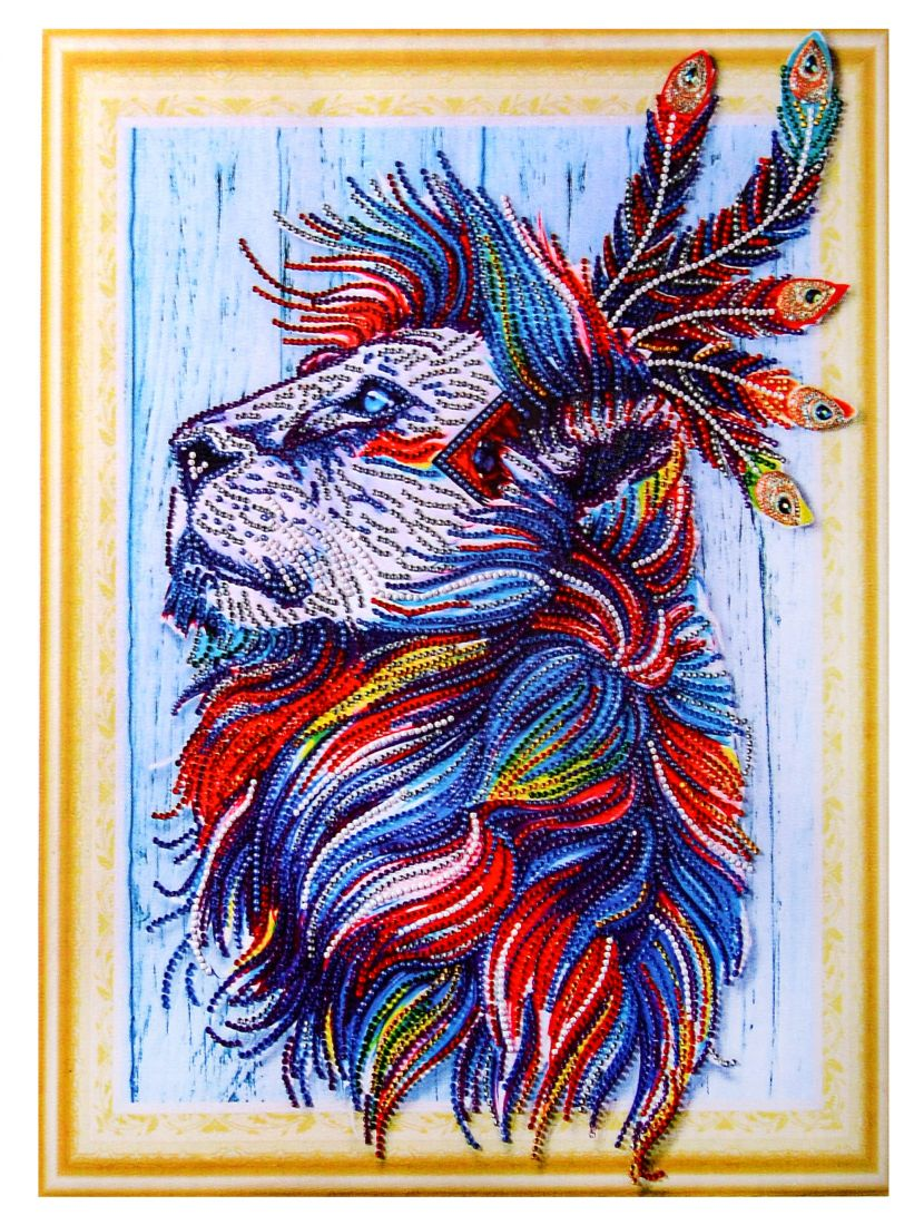 """Алмазная мозаика на подрамнике """"Гордый дух льва"""""""