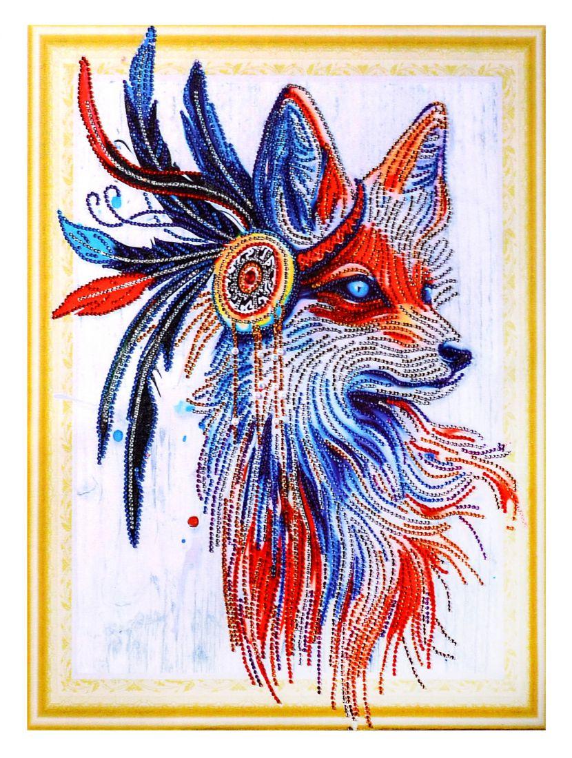 Алмазная мозаика на подрамнике «Дух рыжего лиса»