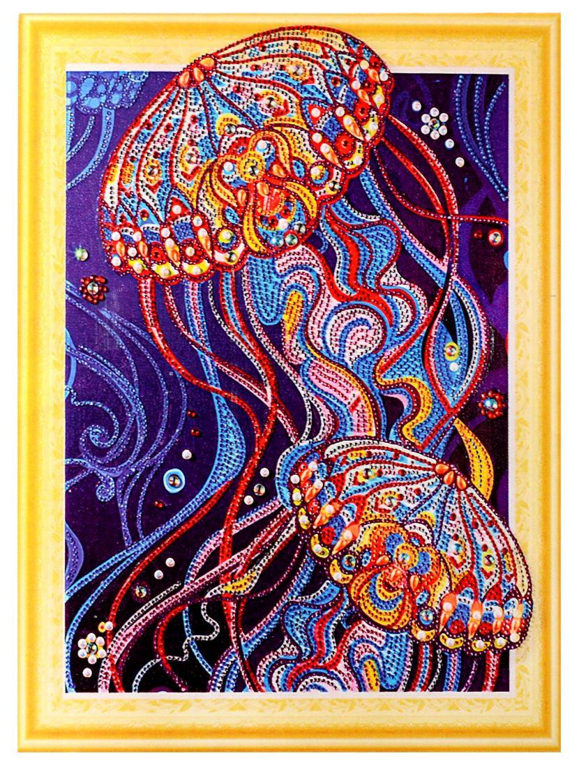 """Алмазная мозаика на подрамнике """"Фантастическая медуза"""""""
