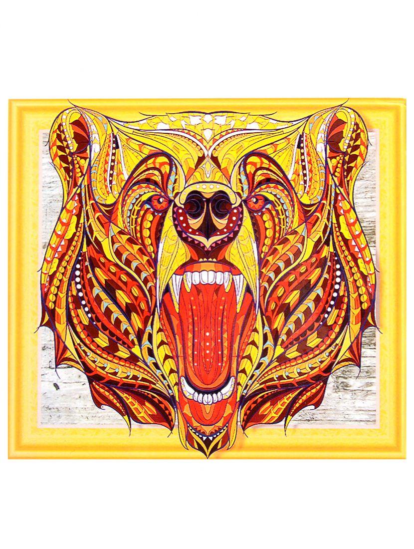 Алмазная мозаика на подрамнике «Суровый медведь»