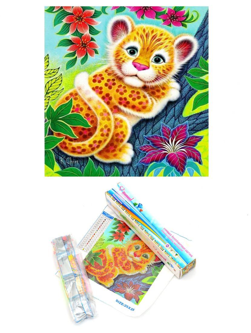 "Алмазная мозаика ""Леопардёнок"""