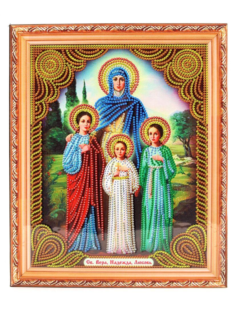 Алмазная мозаика на подрамнике «Вера, Надежда и Любовь и мать их Софья» икона