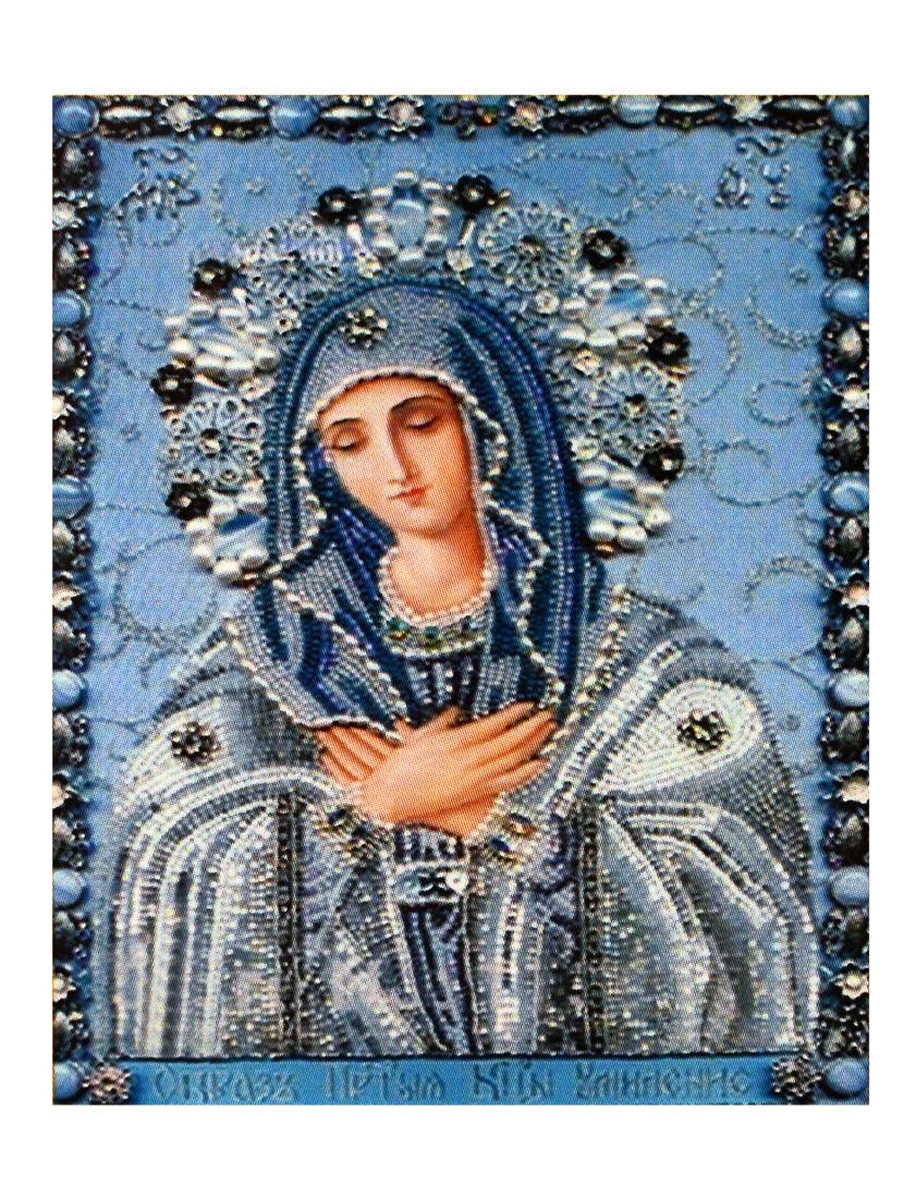 Алмазная мозаика на подрамнике «Божьей матери. Умиление» икона