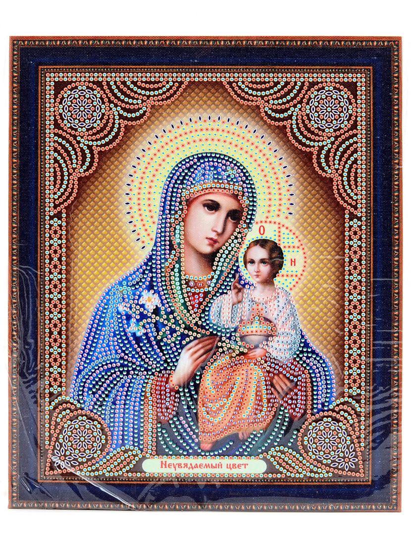 """Алмазная мозаика на подрамнике """"Божией Матери. Неувядаемый цвет"""" икона"""