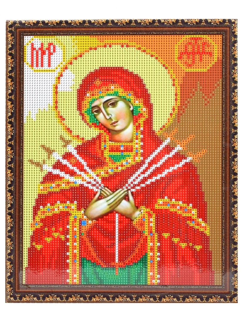 """Алмазная мозаика на подрамнике """"Божией Матери Семистрельная"""" икона"""
