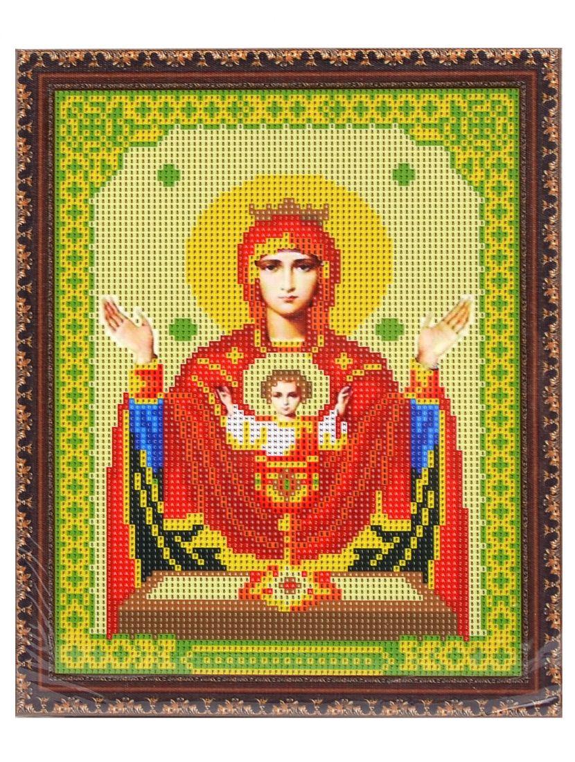 """Алмазная мозаика на подрамнике """"Божией Матери. Неупиваемая чаша"""" икона"""