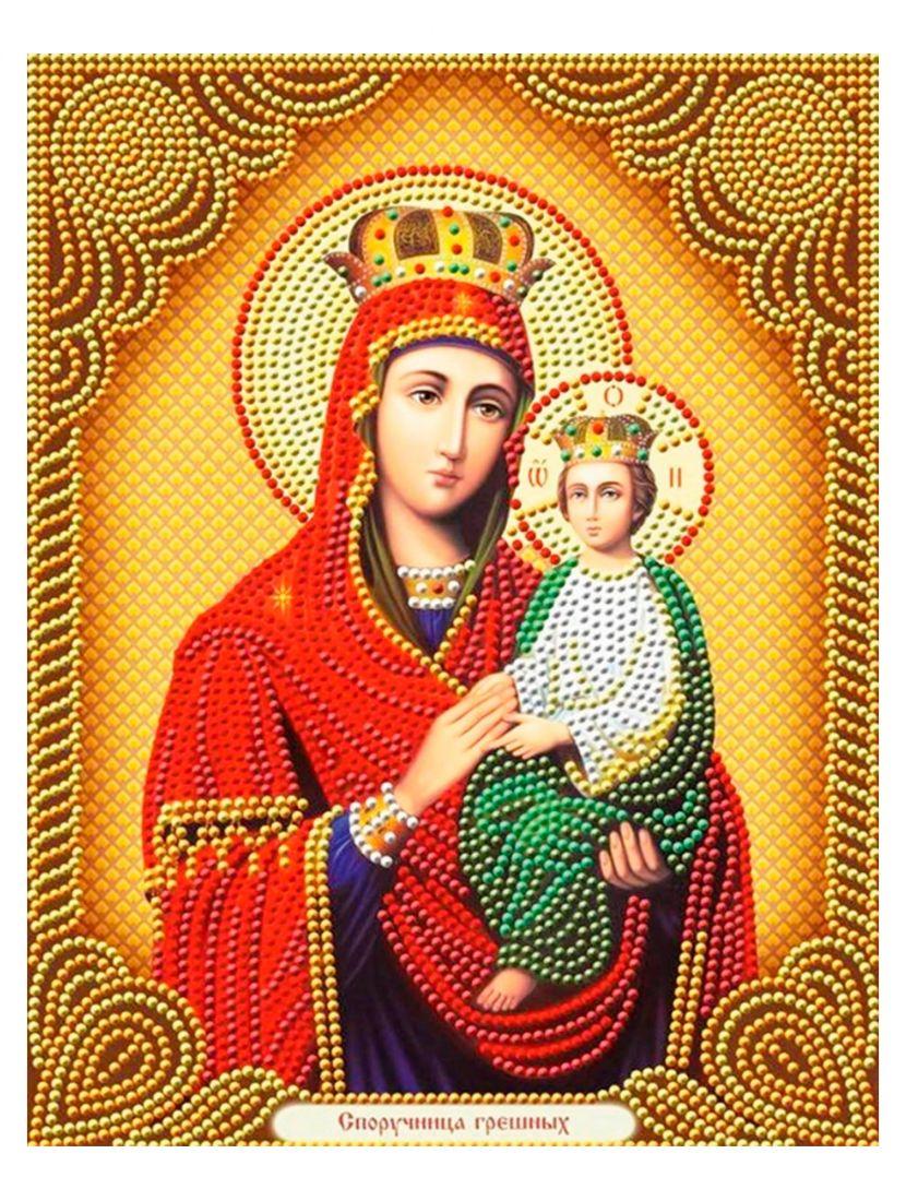 Алмазная мозаика на подрамнике «Божией Матери Споручница грешных» икона