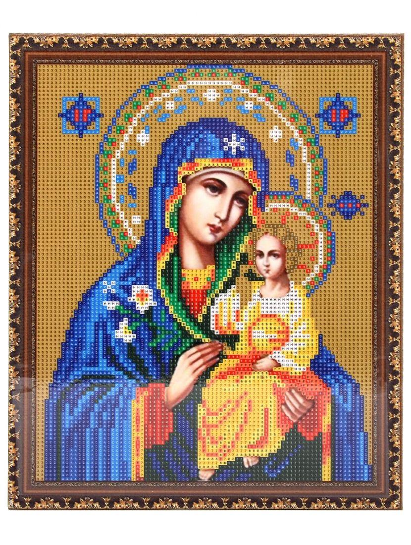"""Алмазная мозаика на подрамнике """"Божией Матери Неувядаемый цвет"""" икона"""