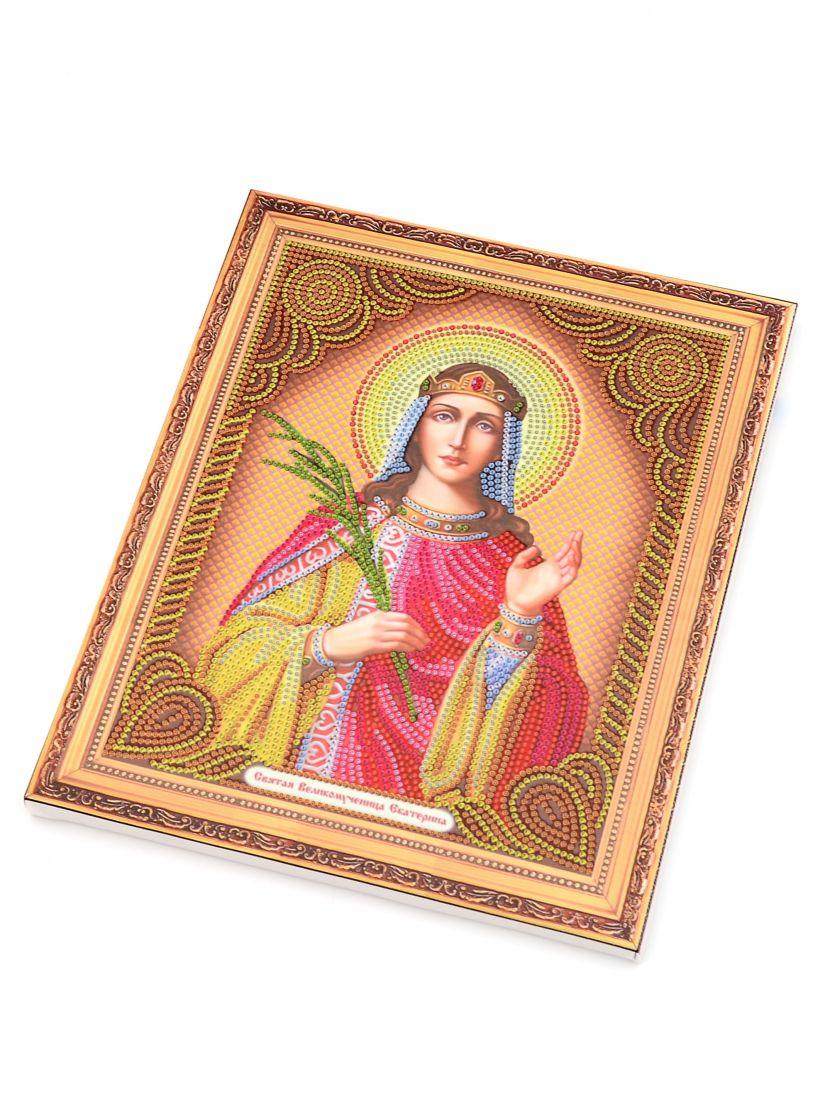 Алмазная мозаика на подрамнике «Святая мученица Екатерина» икона