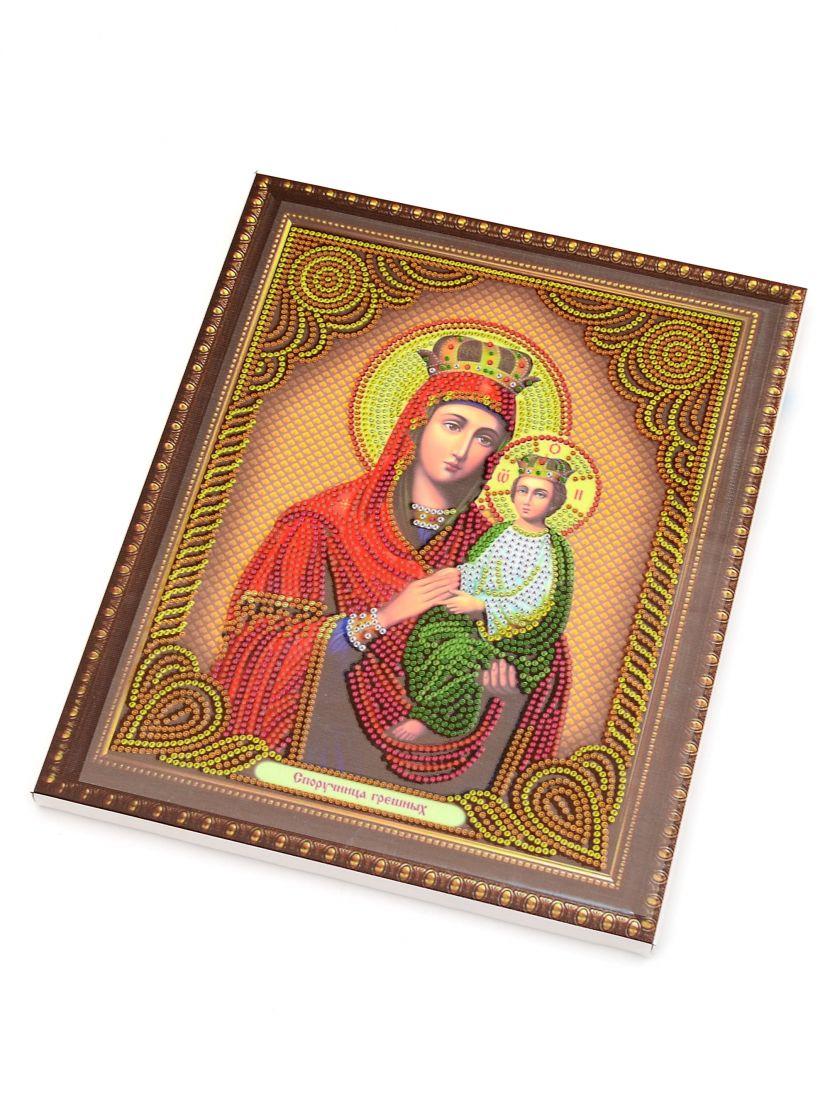 """Алмазная мозаика на подрамнике """"Божией матери Споручница грешных"""" икона"""