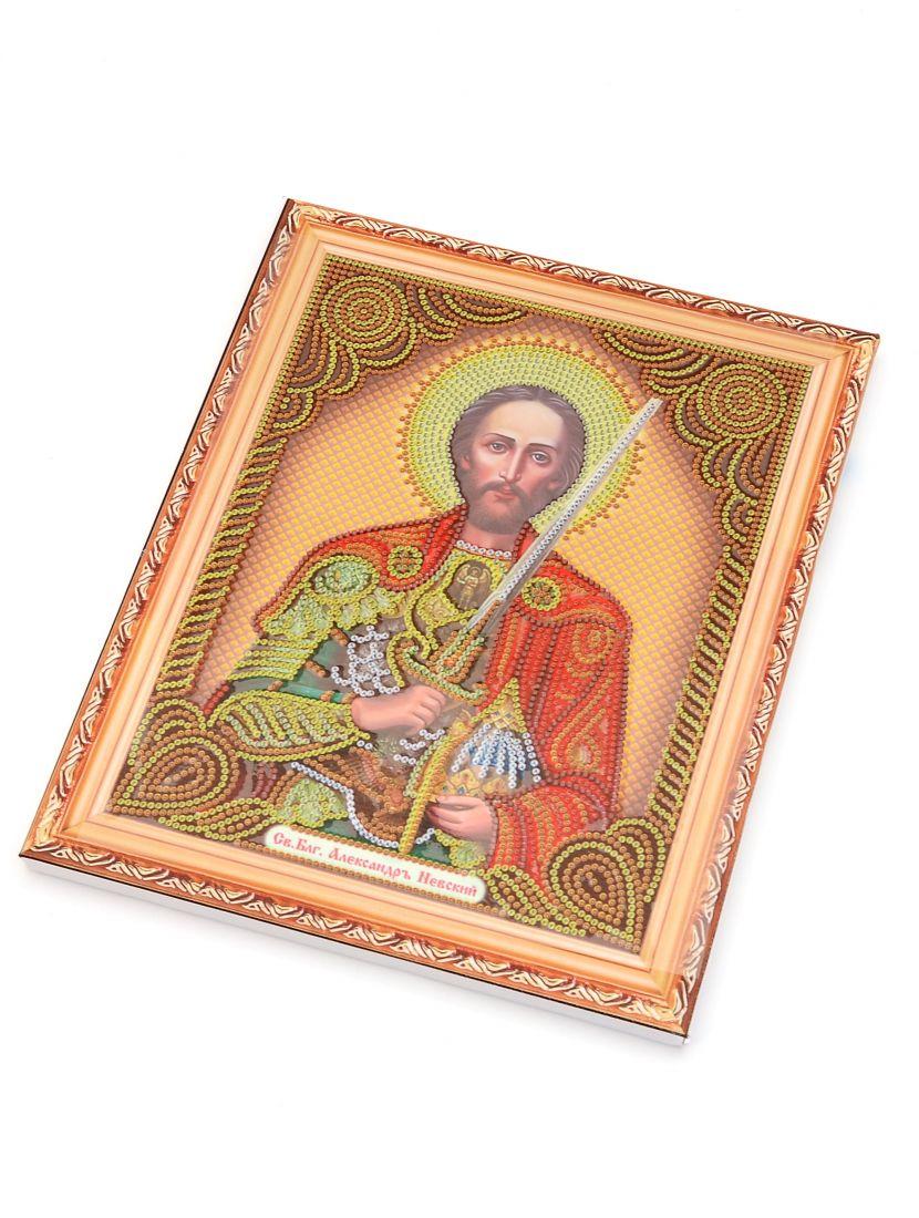 Алмазная мозаика на подрамнике «Святой Князь Александр Невский» икона