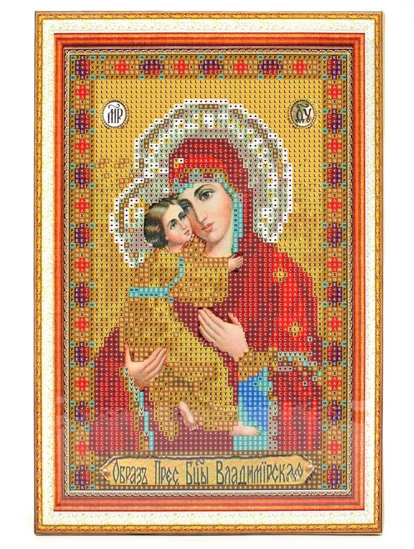 """Алмазная мозаика на подрамнике """"Божией Матери. Владимирская"""" икона"""