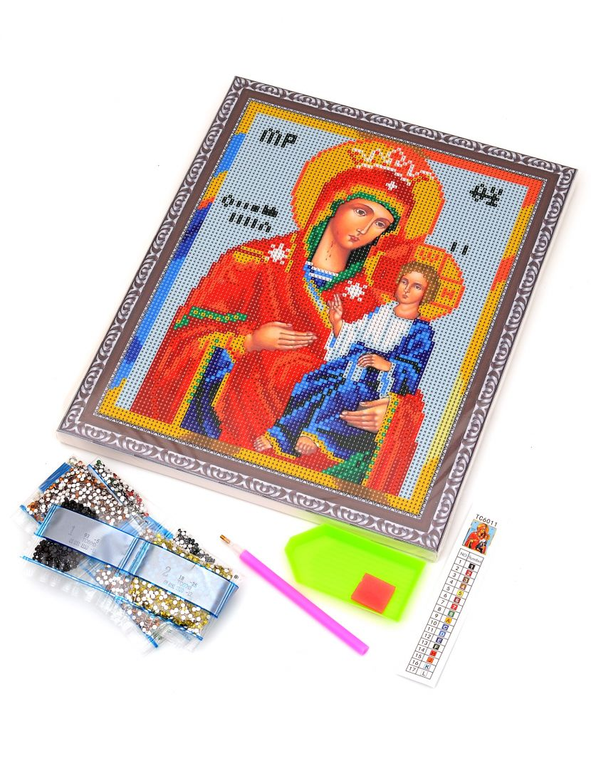 """Алмазная мозаика на подрамнике """"Божией Матери Иверская"""" икона"""