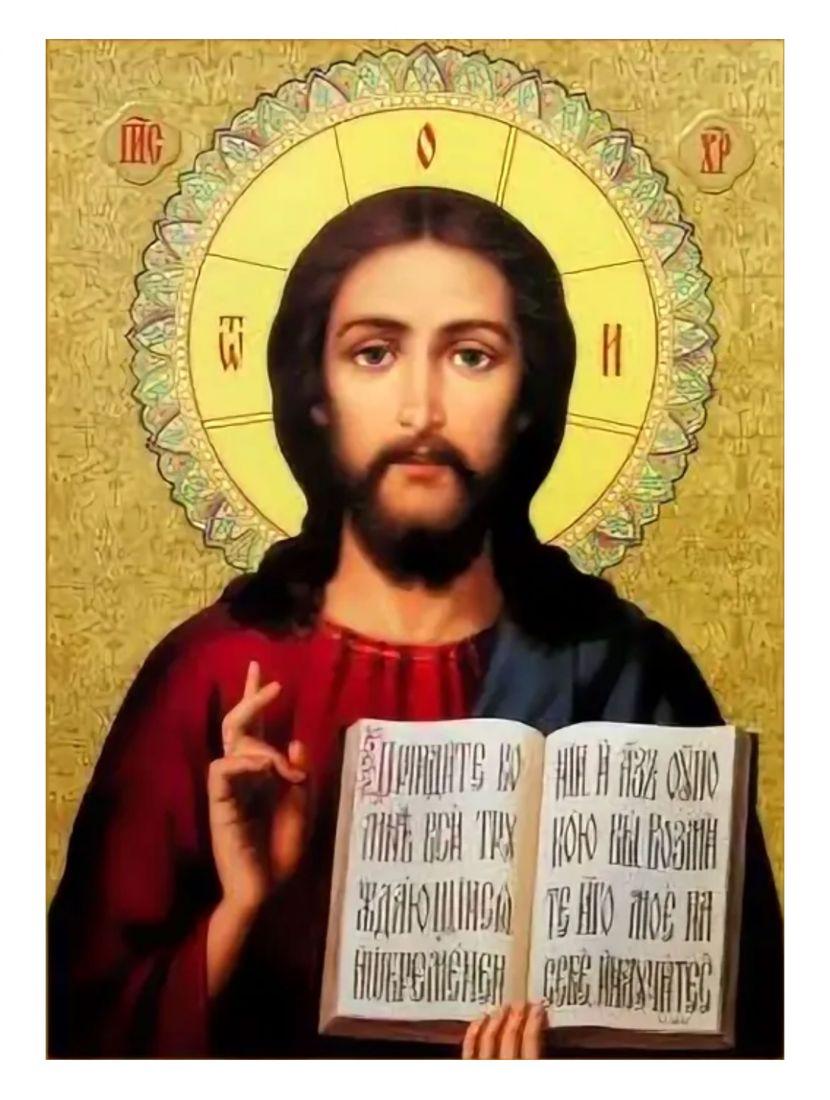"""Алмазная мозаика на подрамнике """"Христос"""" икона"""