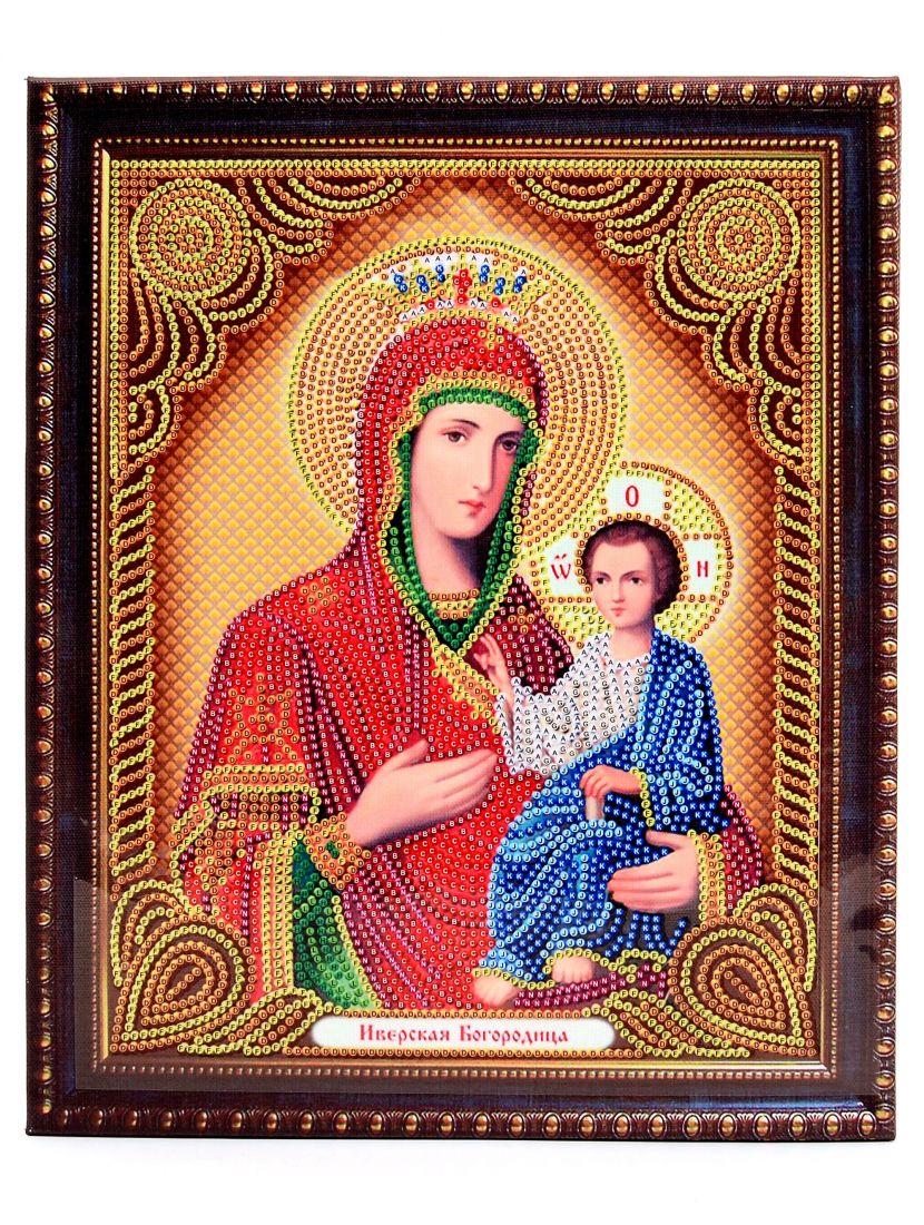 """Алмазная мозаика на подрамнике """"Божией Матери. Иверская"""" икона"""