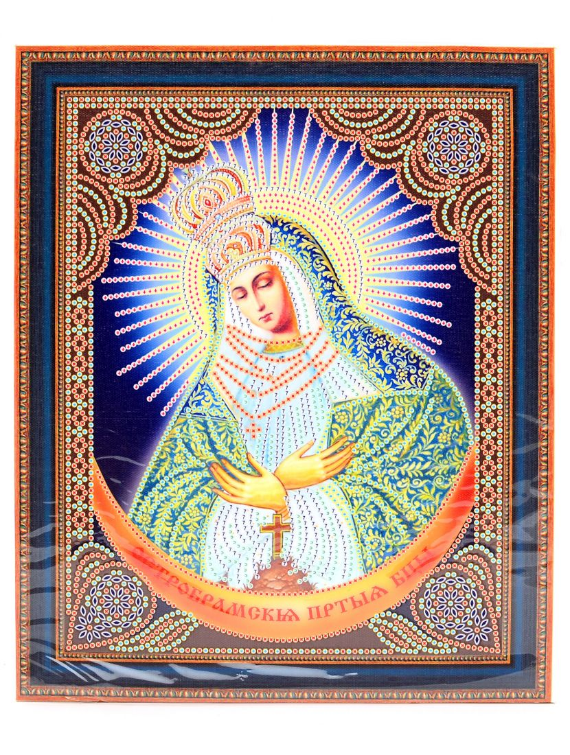 """Алмазная мозаика на подрамнике """"Божией Матери. Остробрамская"""" икона"""