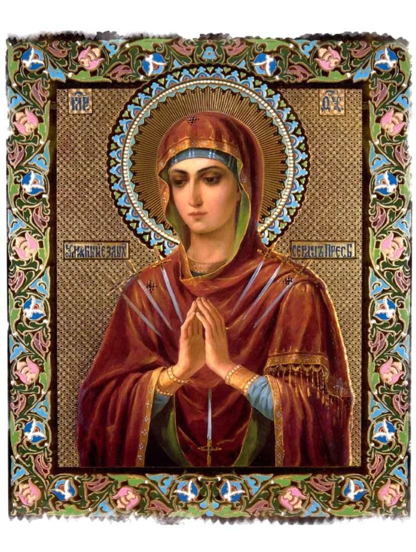 """Алмазная мозаика на подрамнике """"Божьей матери. Умиление злых сердец"""" иконы"""