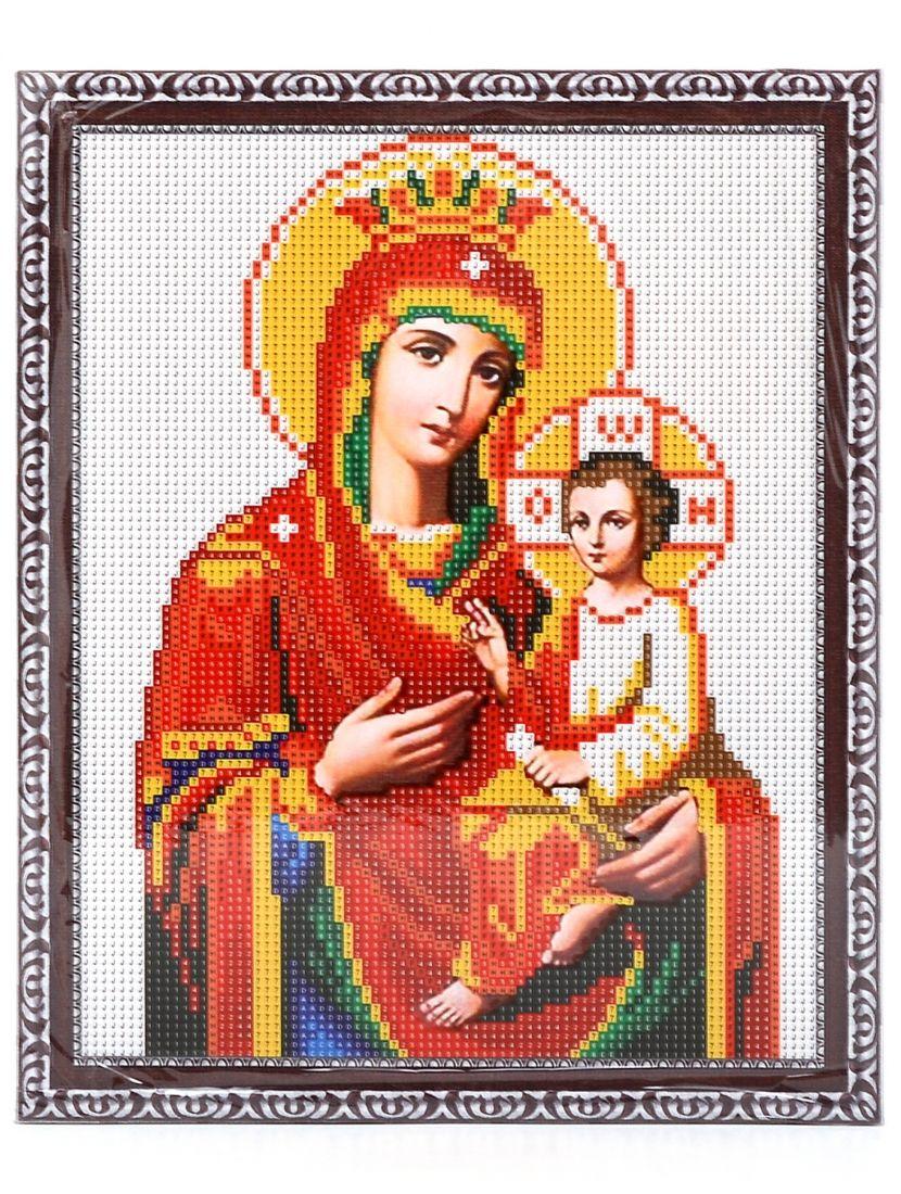 """Алмазная мозаика на подрамнике """"Божией Матери Одигитрия"""" икона"""