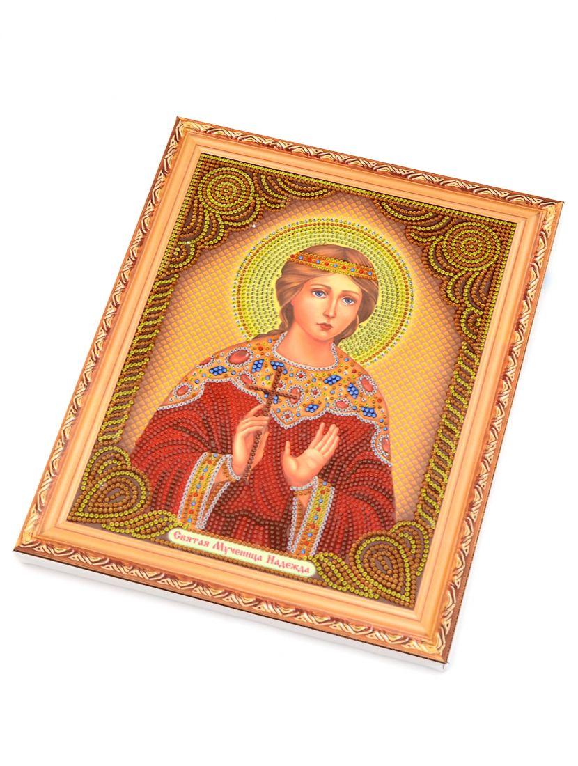 Алмазная мозаика на подрамнике «Святая мученица Надежда» икона