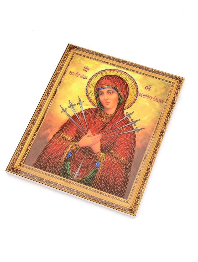 """Алмазная мозаика на подрамнике """"Божией Матери Умягчение злых сердец"""" икона"""