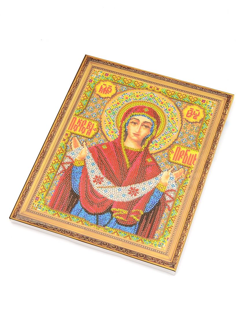 """Алмазная мозаика на подрамнике """"Покров Пресвятой Богородицы"""" икона"""