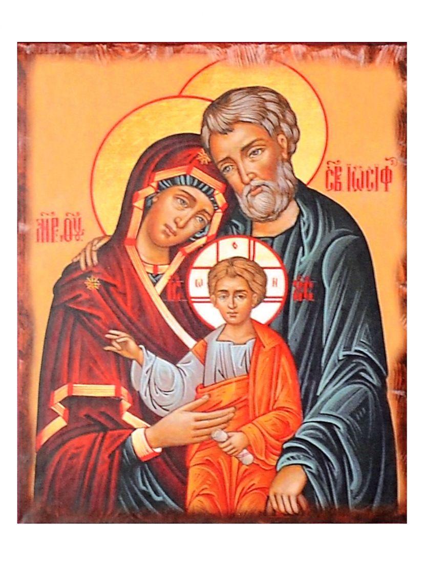 """Алмазная мозаика на подрамнике """"Святое Семейство"""" икона"""