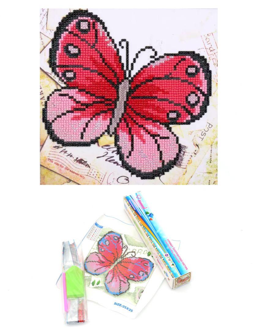 Алмазная мозаика «Бабочка алая»