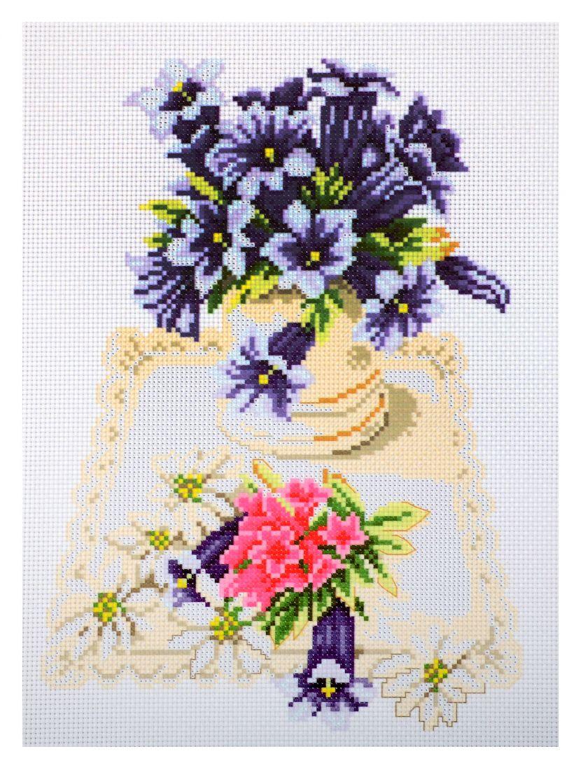Схема для вышивания крестиком «Загородный букет»