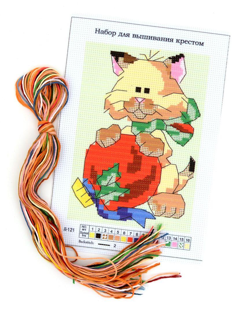 Набор для вышивания крестом «Котёнок и мяч»