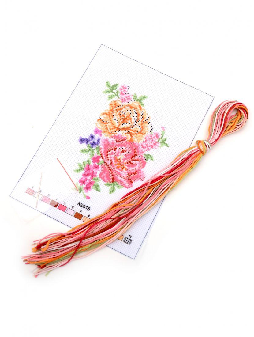 """Набор для вышивания крестом """"Цветы розы"""""""