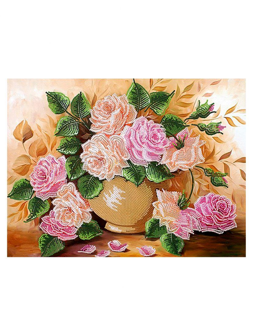 """Схема для вышивания бисером """"Осенние розы"""""""