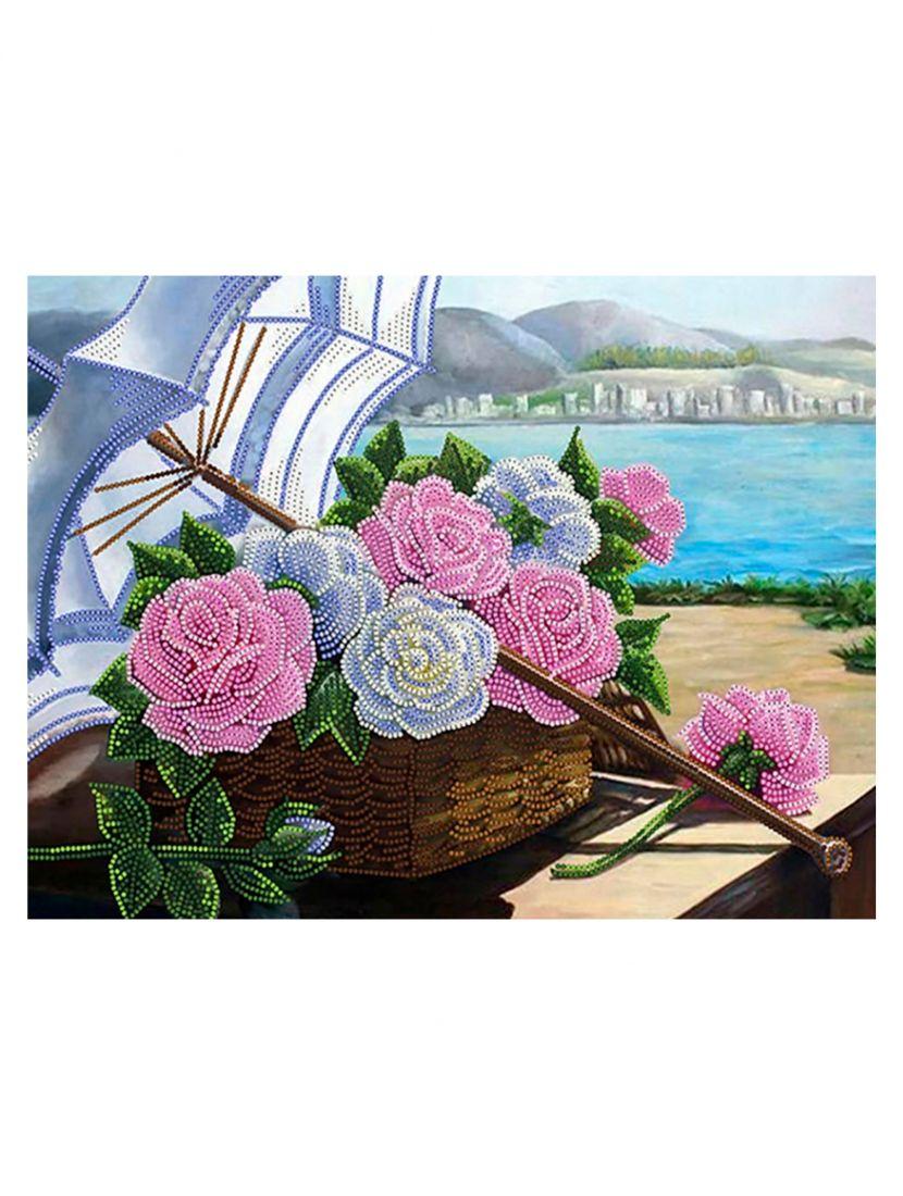 """Схема для вышивания бисером """"Розы средиземноморья"""""""