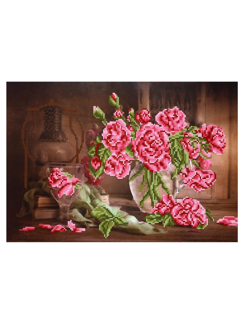 """Схема для вышивания бисером """"Розы в старой комнате"""""""