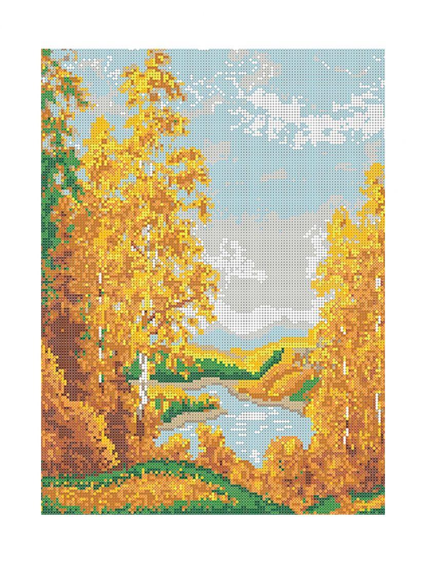 """Схема для вышивания бисером """"Золотая осень"""""""